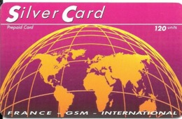 CARTE-PHONE-120U-SILVER CARD-31/12/1998-R° Glacé-Plastic Epais Gratté-TBE-RARE - France