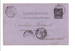 ENTIER SAGE DE MONTBOZON HAUTE SAONE POUR BESANCON 1880 - Marcophilie (Lettres)