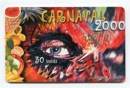 Telecarte °_ Polynésie F-104-Carnaval 2000-Masque-30 Unités-gem- R/V 2640 - Französisch-Polynesien