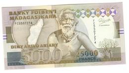 Madagascar 25000 Francs / 5000 Ariary 1993 UNC - Madagascar
