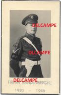 Oorlog Guerre Firmin Vandenberghe Avelgem Soldaat Police MP Gesneuveld Te Hamburg 1946 HELLINCK DOODSPRENTJE - Imágenes Religiosas