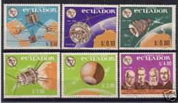 SPACE - ECUADOR - Set 6v MNH - Spazio