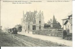 Hermanville-sur-Mer-Villa Hermanvillette-Départ Du Train Pour Riva-Bella - Autres Communes
