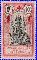 Inde 1915. ~  YT 46* - + 5 / 10 C. Dieu Brahma - India (1892-1954)