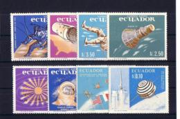 SPACE - ECUADOR - Set 8v MNH - Spazio