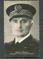 CPSM Format CPA - Amiral DARLAN, Commandant En Chef Des Forces Maritimes - Krieg