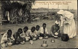 Cp Chennai Madras Indien, Middagmaal Van De Weesjongens Der Zusters, Missionarin, Inder - Christianisme