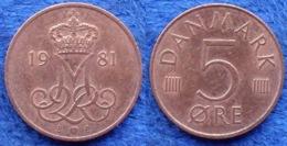 DENMARK - 5 øre 1981 KM# 859.2 Margrethe II (1972) - Edelweiss Coins - Danemark