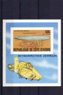 SPACE - Zeppelin - COTE D'IVOIRE - S/S Imp. MNH - Spazio
