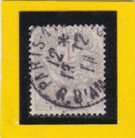 TYPE BLANC  N° 107   + CACHET  A DATE  PARIS  / RUE D'AMSTERDAM   - REF ACDIV - 1900-29 Blanc
