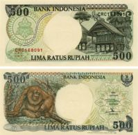 Indonesia. Banknote500 Rupees. 1992. UNC. P128a. A Monkey - Indonesië