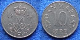 DENMARK - 10 øre 1978 S B KM# 860.1 Margrethe II (1972) - Edelweiss Coins - Denmark