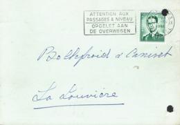 Flamme Attention Aux Passages à Niveau Opgelet Aan De Overwegen Sur CP De 1961 Des Usines Gondrexon (Saventhem) - Postmark Collection