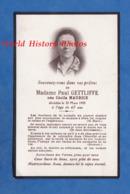 Faire-Part De Décés - Cécile MAURICE épouse De Paul GETTLIFFE Décédée Le 24 Mars 1945 à 67 Ans - Faire-part