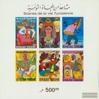 Tunisia Block8b (complete Issue) Unmounted Mint / Never Hinged 1972 Scenes Out The Life The Tunesier - Tunisia