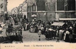 Dinant Le Marché Et La Rue Saxe Fabrique De Poêle Maison Lemineur Animation - Dinant