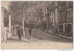 Q6- 06) CAGNES  (COTE D'AZUR) AVENUE DE LA GARE   - (ANIMÉE - 2 SCANS) - Cagnes-sur-Mer