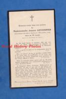 Faire-Part De Décés - AVIZE ( Marne ) - Mademoiselle Jeanne LEFOURNIER Décédée Le 5 Décembre 1929 à 78 Ans - Faire-part