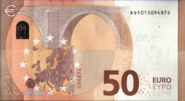 ! 50 Euro, R031G2, RD1015094874, Currency, Banknote, Billet Mario Draghi, EZB, Europäische Zentralbank - 50 Euro