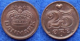 DENMARK - 25 øre 2005 KM# 868.2 Margrethe II (1972) Bronze - Edelweiss Coins - Danemark