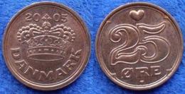 DENMARK - 25 øre 2005 KM# 868.2 Margrethe II (1972) Bronze - Edelweiss Coins - Dinamarca