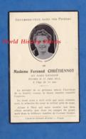 Faire-Part De Décés Avec Photo - TROYES Ou Environs - Aimée LASALLE épouse De Fernand CHRETIENNOT , Décédée En 1944 - Faire-part