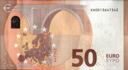 ! 50 Euro, R029H1, RD0013647342, Currency, Banknote, Billet Mario Draghi, EZB, Europäische Zentralbank - 50 Euro