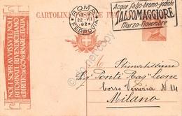 Cartolina Postale Timbro A Targhetta Salsomaggiore 1924 - Sonstige