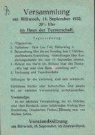 Deutsches Reich LÜBECKER POSTWERTZEICHENSAMMLER-VEREIN 'Benutzt Die Luftpost' LÜBECK 1932 Card Karte Ebert M. Rand - Briefe U. Dokumente