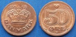 DENMARK - 50 øre 2018 KM# 866 Margrethe II (1972) Bronze - Edelweiss Coins - Denmark
