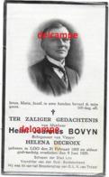 Bidprentje Henri Bovyn Loo 1865 Schepen Van Loo En Overleden 1929 Decroix Helena - Imágenes Religiosas
