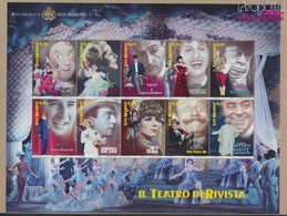 San Marino 2210-2219 Kleinbogen (kompl.Ausg.) Postfrisch 2005 Künstler Des Revuetheaters (9350614 - Unused Stamps