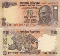 India 10 Rupees 2012 UNC Elephant Tiger Rhino - Inde