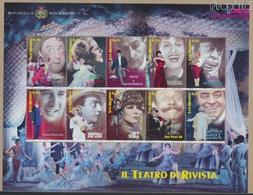 San Marino 2210-2219 Kleinbogen (kompl.Ausg.) Postfrisch 2005 Künstler Des Revuetheaters (9350615 - Neufs