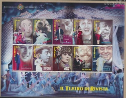 San Marino 2210-2219 Kleinbogen (kompl.Ausg.) Postfrisch 2005 Künstler Des Revuetheaters (9350616 - Neufs