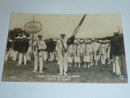JEUX OLYMPIQUE DE 1924 - L'EQUIPE DE FRANCE - CARTE POSTALE MADE IN FRANCE / FABRIQUE EN FRANCE - FRANCE PARIS (AE) - Olympic Games