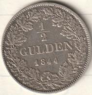 1/2 GULDEN 1844 LEOPOLD GROSSHERZOG VON BADEN - [ 1] …-1871 : German States