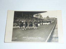 JEUX OLYMPIQUE DE 1924 - L'EQUIPE DE GRANDE BRETAGNE - CARTE POSTALE MADE IN FRANCE / FABRIQUE EN FRANCE - PARIS (AE) - Olympic Games