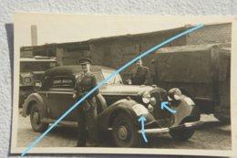 Photo ABL AUDI Front UW Belgian Military Police 1945-46 Germany Police Militaire Aréme Belge Auto Automibile Car - Automobile