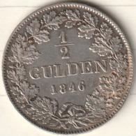 1/2 GULDEN 1846 LEOPOD GROSSHERZOG VON BADEN - [ 1] …-1871 : German States