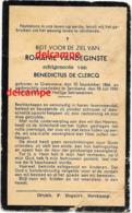 Bidprentje Romanie Vandeghinste Grammene 1866 En Overleden Te Serskamp 1941 De Clercq Doodsprentje Deinze - Imágenes Religiosas