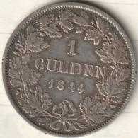1 GULDEN 1844 LEOPOD GROSSHERZOG VON BADEN - [ 1] …-1871 : German States