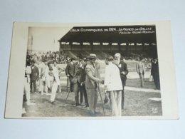 JEUX OLYMPIQUE DE 1924 - LE PRINCE DE GALLES FELICITE ANDRE MOURLON - CARTE POSTALE FABRIQUE EN FRANCE - PARIS (AE) - Olympic Games