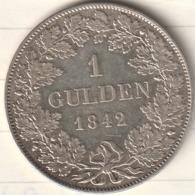 1 GULDEN 1842 LEOPOLD GROSSHERZOG VON BADEN - [ 1] …-1871 : German States