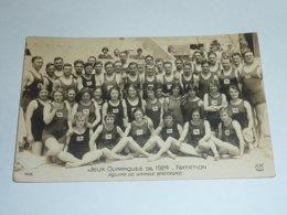 JEUX OLYMPIQUE DE 1924 - NATATION, EQUIPE DE GRANDE BRETAGNE - CARTE POSTALE FABRIQUE EN FRANCE - PARIS (AE) - Olympic Games