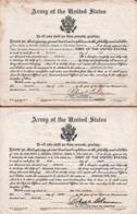 2 Grands Diplômes Army Of The United States - Fort Polk - Louisiane - Walter A. Buechmann 1942 Signé Robert C. Bohannan - Documents Historiques
