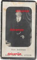 Bidprentje Jozef Van Den Steen Herdersem 1889 En Overleden Te Aalst 1925 De Grauwe Blondine Doodsprentje - Images Religieuses