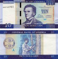 Liberia 10 Dollars 2016 UNC (P32) - Liberia