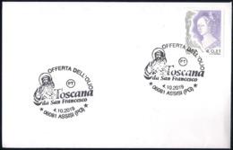 Italia Italy (2019) Annullo Speciale: Assisi ¤ Offerta Dell'olio Dei Comuni Toscani A San Francesco - As Scan - Cristianesimo