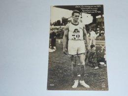 JEUX OLYMPIQUE DE 1924 - WINTER (Australie) RECORDMAN DU MONDE DU TRIPLE SAUT - CARTE POSTALE FABRIQUE EN FRANCE -(AE) - Olympic Games